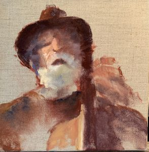 Painting of a cello player
